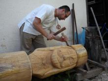 Horváth Béla fafaragó készíti a Rákóczi szobrot